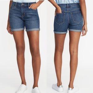 NWT Old Navy Women's Midi Jean Shorts Size 6